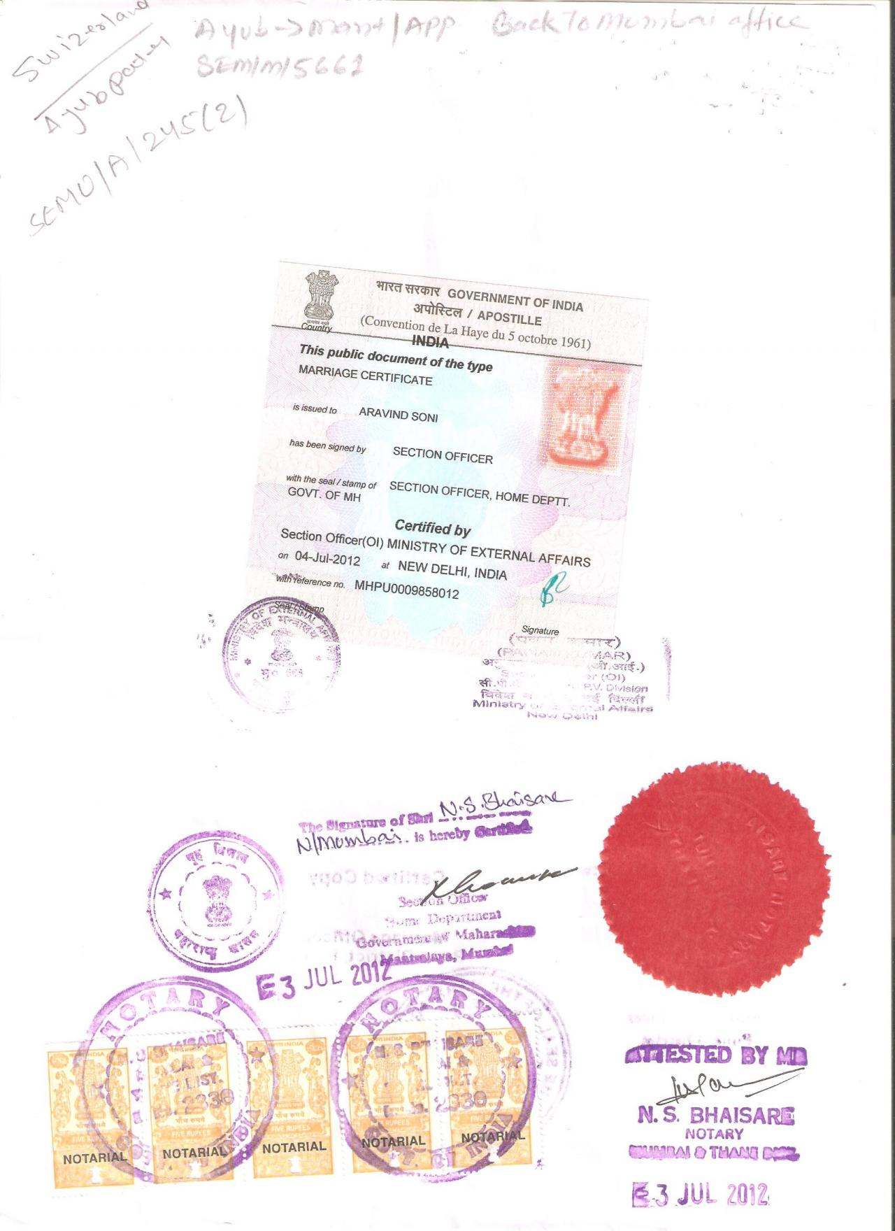Document attestation service mea and apostille in pune india certificate attestation apostille service provider contact number for agency company from consulate and embassy in pune aiddatafo Image collections